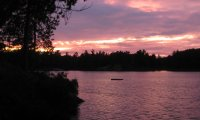 Dusk at a Canadian Shield Lake